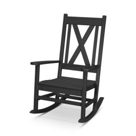 Braxton Porch Rocking Chair in Black
