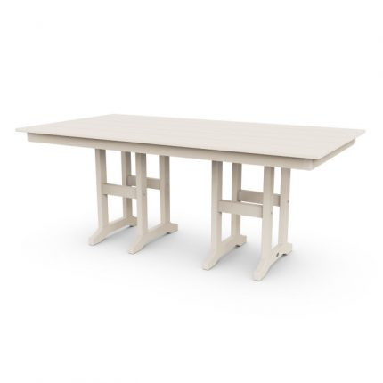 """Lakeside 37x72"""" Farmhouse Dining Table in Sand"""
