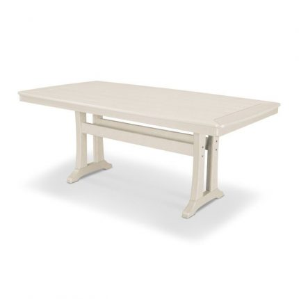 "Nautical Trestle 38x73"" Dining Table in Sand"