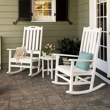 Polywood Nautical Porch Rocking Chair Set