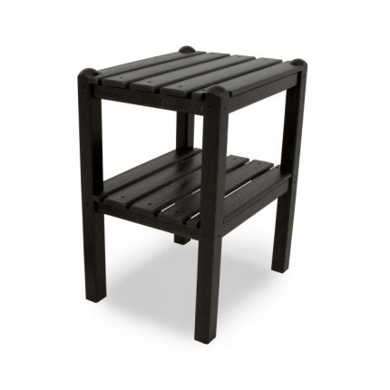 Two Shelf Side Table in Black