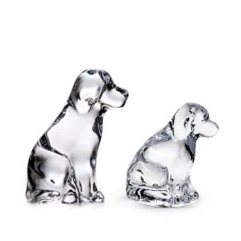 Glass Dog and Puppy