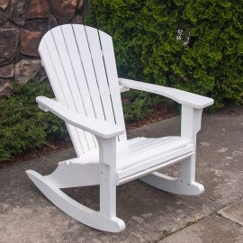 Polywood Seashell Rocker in white