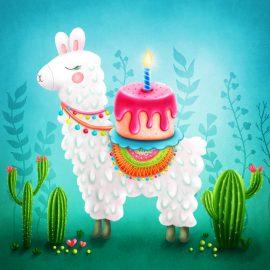 Birthday Llama Peapod Puzzle