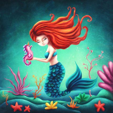 Little Mermaid Peapod Puzzle