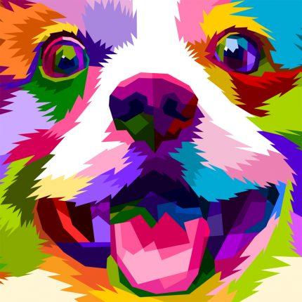 Rainbow Puppy Peapod Puzzle
