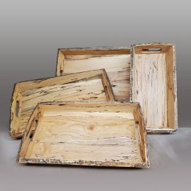Set of Spalted Maple Serving Trays
