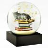 Cat on Books Snow Globe