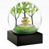 Goldfinch Fountain Snow Globe