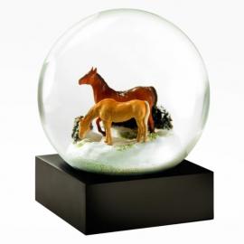 Horses Snow Globe