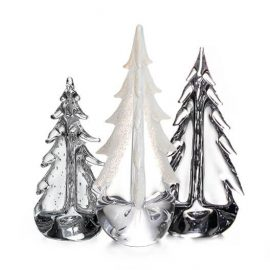 Ice & Snow Evergreen Tree Trio