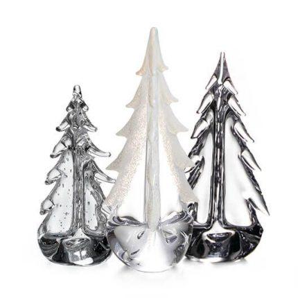 Ice & Snow Evergreen Tree Trio