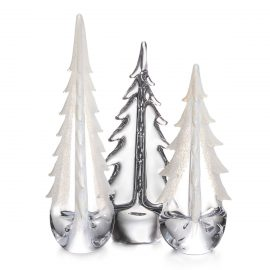 Snowfall Evergreen Tree Trio
