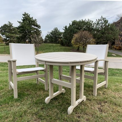 Coastal Dining Chair Set w 36in Table