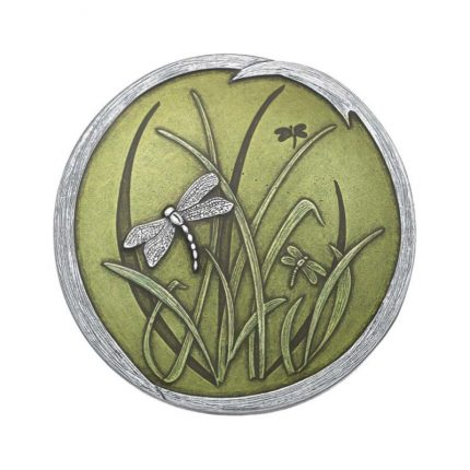 Green Dragonfly Purse Mirror