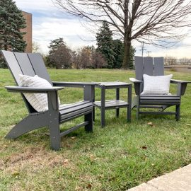 Modern Adirondacks and 2-Shelf Side Table Set