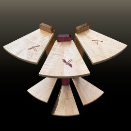 Three dragonfly perching tables top