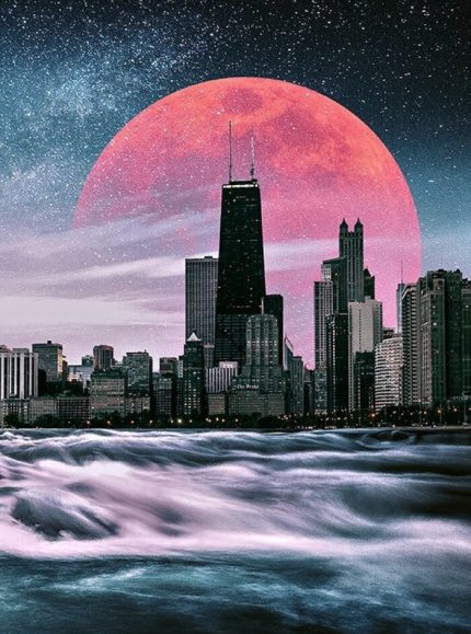 Cosmic Illumination Wooden Jigsaw Puzzle by Another Chicago