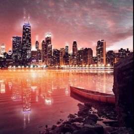 Lonely Boat Wooden Jigsaw Puzzle by Another Chicago