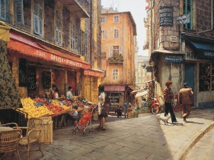 Ville Franche Wooden Jigsaw Puzzle by Clark Hulings