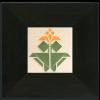 4x4 Avery Tulip Tile in Orange w Black Oak Park Frame