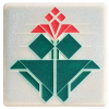 4x4 Avery Tulip Tile in Red