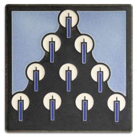 6x6 Tannenbaum Tile in Blue