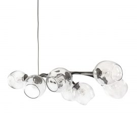 Simon Pearce Vine Chandelier Dark Smoke