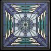 8x8 Prairie Butterfly Tile in Blue