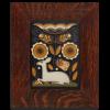 Brown Vienna Woods Tile in 2in Oak Frame