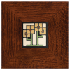 Golden Square Flowers Tile in 3in Legacy Frame