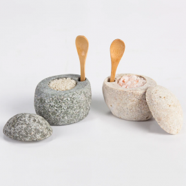 Beach Stone Salt Cellars