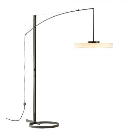 Disq Arc LED Floor Lamp with Frost Shade