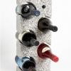 Five Bottle Granite Wine Rack