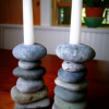 Funky Rock Designs Cairn Candlesticks