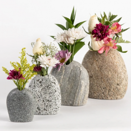 Funky Rock Designs Stone Flower Vases