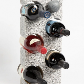 Granite Wine Rack with Wine Bottle Stopper