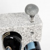 Wine Rack with Beach Stone Wine Bottle Stopper