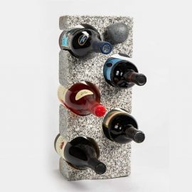 Granite Wine Rack with Wine Bottle Stopper sq