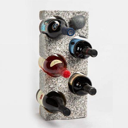 Granite Wine Rack with Wine Bottle Stopper sq
