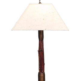 Red Bamboo Breeze Lamp