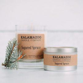 Kalamazoo Sugared Spruce Soy Candles