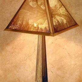 Mountain Lake Table Lamp